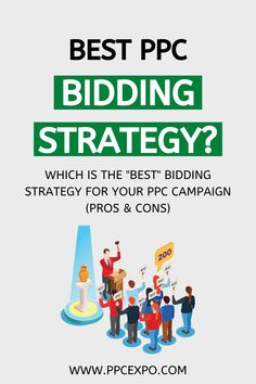 """Want to know which is the """"best"""" bidding strategy for your PPC campaign? Start by learning each strategy's objective, function, and pros and cons. Capture your best ppc bidding strategy to boost your business growth and win the ppc game. #ppc #googleadwords #googleads #biddingstrategy #budget Pay Per Click Advertising, Internet Advertising, Internet Marketing, Digital Marketing Business, Digital Marketing Services, Content Marketing, Display Ads, Business Money, Google Ads"""