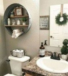 Amazing DIY Bathroom Ideas, Bathroom Decor, Bathroom Remodel and Bathroom Projects to aid inspire your master bathroom dreams and goals. Bathroom Interior, Rustic Bathroom Decor, Farmhouse Bathroom Decor, Modern Farmhouse Bathroom, Small Bathroom, Bathroom Decor, Bathroom Design, Diy Bathroom Makeover, Beautiful Bathrooms