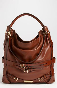 Burberry 'Bridle' Leather Hobo. . . Good Lord I'd have a stroke if ever got my hands on one. Perfection.