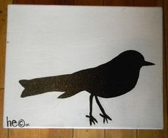 Bird Silhouette - Simple Acrylic Painting