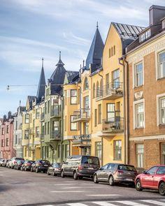 Huvilakatu Street in Helsinki, Finland Helsinki, Croatia Travel, Thailand Travel, Bangkok Thailand, Hawaii Travel, Italy Travel, Lappland, Finland Summer, Beautiful World