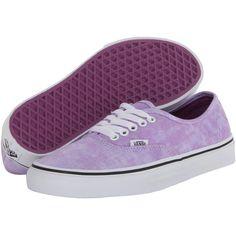 Vans Authentic Violet) Skate Shoes (115 PLN) ❤ liked on Polyvore featuring  shoes e2e55f5565d