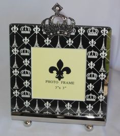 """Our NEW pewter crown photo frame holds a 3""""x3"""" photo of the king or queen."""