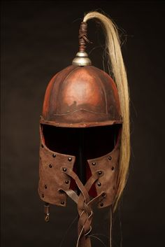 Mongol helmet by SokolWorkshop; mongol, tatar, Helmet, armor, leatherarmor, leathercrafter, viking, leather, role-playing, LARP, Medieval, cosplay, roleplaying, warrior, cuirass, vambraces, Cuirass, TorsoArmour, Lamellar, PlatedArmour, Pauldrons, Vambraces, Belt, HeroHarness, leatherSkirt, ThighArmour, Greaves, WovenArmour