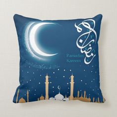 Shop Ramadan Al Adha and Fitr Throw Pillow created by SimplyLOVELYsweet. Ramadan Crafts, Ramadan Decorations, Essie, Diy Home Crafts, Arts And Crafts, Custom Pillows, Diy Art, Diys, The Neighbourhood