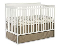 Stork Craft Mission Ridge Fixed Side Convertible Crib, White