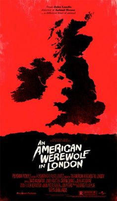Olly Moss: An American Werewolf in London movie poster. Check out Olly Moss he's one of the best graphic designers around at the moment