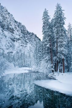 Yosemite National Park, California, United States of America. This place is beautiful in winter. Listening to Yosemite Falls ice melting when the sun hit it is amazing Yosemite National Park, National Parks, National Forest, Winter Szenen, Winter Time, Parque Natural, Winter Landscape, Belle Photo, Beautiful Landscapes