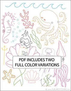 UNDER THE SEA - Embroidery Patterns