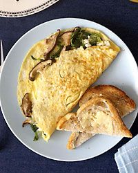 Wild Mushroom and Goat Cheese Omelets // More Tasty Egg Recipes: http://fandw.me/AII #foodandwine