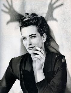 Tatjana Patitz   Photography by Peter Lindbergh   For Vogue Magazine Italy   October 1990