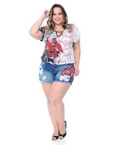 Shorts Jeans Plus Size, Jean Shorts, Trendy Plus Size Clothing, Plus Size Casual, Plus Size Summer Outfit, Plus Size Outfits, Pernas Sexy, Plus Size Beauty, Poses