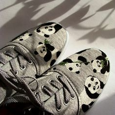 Panda shoes.... OMG I WOULD NEVER TAKE THESE OFF!