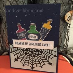 Needs A Ribbon: Countdown to Halloween with Sweet Hauntings Stampin' Up! Stamp set and spider web doilies using a new technique making stars