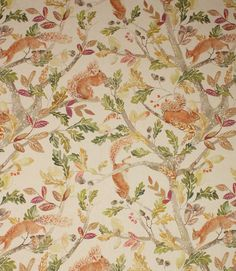 Scurry of Squirrels Fabric Voyage Fabric, Curtain Fabric, Curtains, Woodland Fabric, English Cottage Style, Traditional Fabric, Woodland Creatures, Fabulous Fabrics, Woodland Nursery