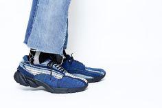 BONUM x mythography Denim Footwear Collection Sneakers Patchwork Indigo Blue
