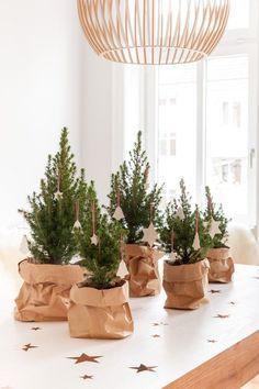 Bäumchenweihnachtsdeko OhhhMhhh Weihnachtszauber, Selbermachen Diy,  Tischdekoration Weihnachten, Basteln Weihnachten, Weihnachtsdeko Ideen,