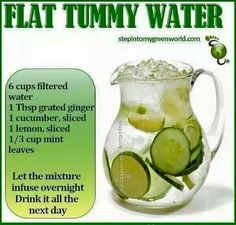 Flat tummy water
