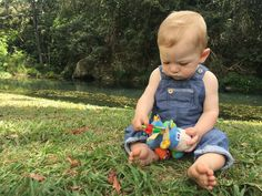 Theo and his Clip Clop Activity Rattle