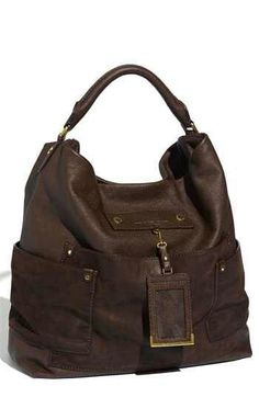 Marc By Marc Jacobs Preppy Faridah Hobo Layered patch pockets and a  dangling ID tag style a luminous buffalo-leather shoulder bag brand. 43adfd0c709