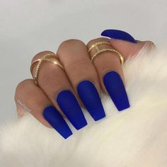 for rings Paulette Harris Color: Bright Nig - -? for rings Paulette Harris Color: Bright Nig - - My Color! Blue Matte Coffin Nails with Rhinestones Royal Blue Nails, Blue Matte Nails, Dark Blue Nails, Blue Coffin Nails, Blue Acrylic Nails, Bright Blue Nails, Stiletto Nails, Cute Nail Designs, Acrylic Nail Designs