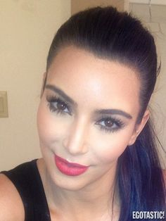 kim kardashian makeup...love this lipstick color!