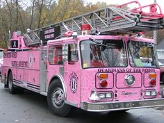 Pink Fire Truck... because Kelli's such a Daddy's girl! In Loving Memory : H.D.Hughes Fort Worth FireFighter..23 years..