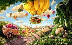 写真家カール・ワーナーさんが食べ物を使って撮った風景がとってもファンタジー:ハムスター速報