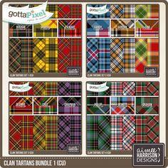 Pattern Papers: CU Tartan Bundle 1 :: Gotta Pixel Digital Scrapbook Store by Aimee Harrison
