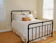 Powder coated cast iron bed from Scout House Insanely cute