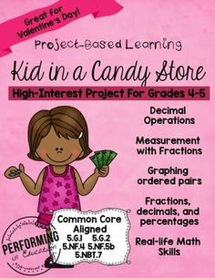 "This is a great project for Valentine's Day or any other day of the year!It's every kid's dream to own a candy store! Kids will first ""build"" and name their candy store. After that, they get to choose what candy to put in it! They will add candy displays to their store using the dimensions provided (in 1/2"" scale)."
