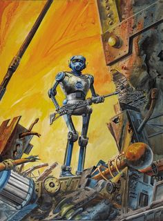 sciencefictiongallery:  Gray Morrow - Robot soldier