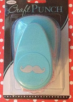 SPECIAL PRICE - LARGE Mustache Paper Punch - Lil Man Party, Baby 1st Birthday, Adult Mustache Party, Favors, Parties