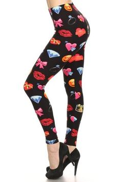 Emoji Print Buttery Soft Leggings