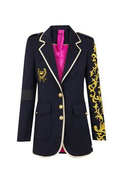 Baronesa Azul #lacondesa #gold #embroidery #aristocratic #fashion #militaryinspiration #navy