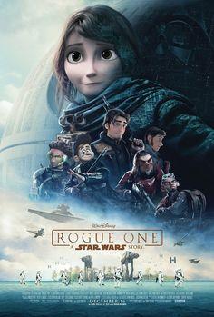 Fanart: Star Wars Poster - Rogue One Disneytized by Uebelator