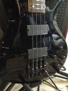 Robert Cardenas' Schecter bass with a Kahler bass tremolo