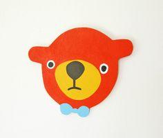 Red Orange Bear.   Herman Marie  via Etsy.