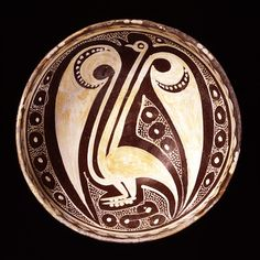 Samarkand slipware, imitation of Iraqi Lusterware. 10th Century. The David Collection - Ceramics