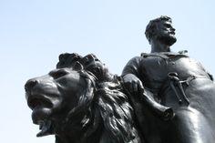 Statue around Queen Victoria Memorial in front of Buckingham Palace