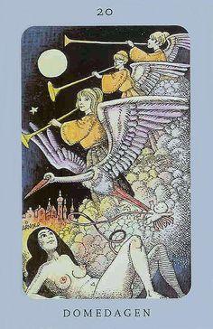 Judgement - Jolanda Tarot (Swedish Witch Tarot: 'Domedagen')