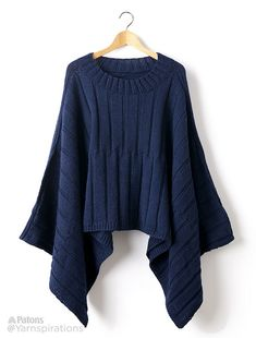 Ravelry: Reversible ribbed knit poncho pattern by Julia Madill