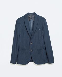 ZARA - MAN - BLUE DOTTED BLAZER