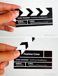 So awesomelove to collect creative business cards Company Business Cards, Business Card Maker, Unique Business Cards, Cv Inspiration, Visiting Card Design, Presentation Cards, Name Card Design, Bussiness Card, Event Planning Business