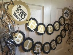 50th Birthday Decorations Party Banner by FromBeths on Etsy