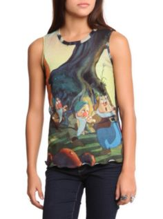 Disney Snow White Dwarfs Top from Hot Topic. Shop more products from Hot Topic on Wanelo. Dwarf Girl, Disney Outfits, Disney Clothes, Disney Fashion, Teen Fashion, Hot Topic Disney, Snow White Dwarfs, Disney Princess Snow White, Disney Tops