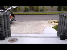 Triple-leaf telescopic sliding driveway gate (hardware by FAC) - YouTube