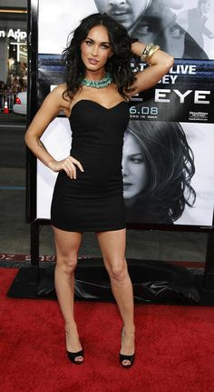 Clearly, Megan Fox chose to focus on the LITTLE in Little Black Dress. Megan Fox Sexy, Style Megan Fox, Megan Fox Fotos, Megan Denise Fox, Megan Fox Dress, Hot Girls, Cabelo David Beckham, Megan Fox Pictures, Elegantes Outfit