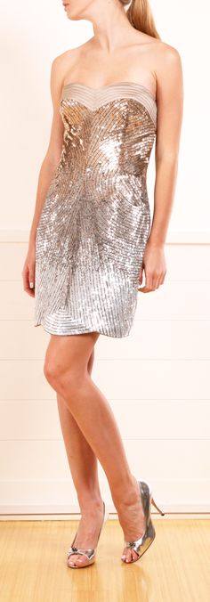 Love this sequin dress. Wish lt had straps though. Beautiful Gowns, Beautiful Outfits, Glamour, Lesage, Costume, Sequin Dress, Dress Me Up, Pretty Dresses, Dress To Impress