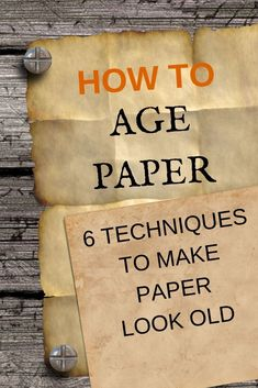 Make your paper look old with these 6 easy techniques. Use the aged paper for any heritage or vintage craft project DIY paper craft vintage technique age 257197828707104374 Album Vintage, Vintage Scrapbook, Handmade Scrapbook, Vintage Sheet Music, Scrapbook Paper Crafts, Diy Scrapbook, Old Book Crafts, Book Page Crafts, Handmade Journals